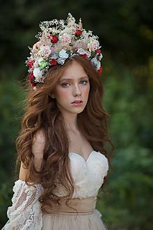 """Ozdoby do vlasov - Kvetinová boho korunka """"čas ruží"""" - 13717633_"""
