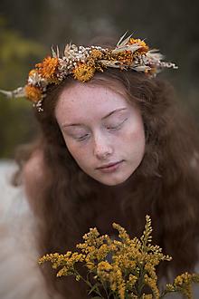 """Ozdoby do vlasov - Kvetinový venček """"čaro jesenného slnka"""" - 13717648_"""