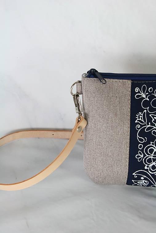 modrotlačová kabelka Lea natur AM 5