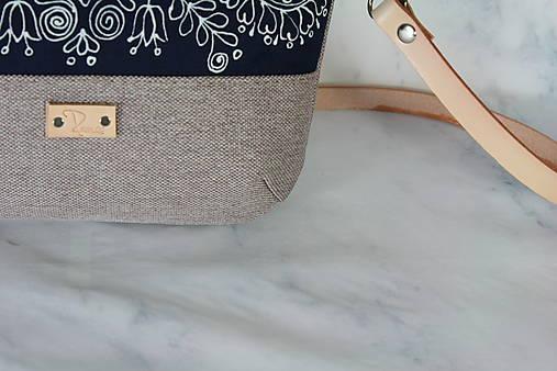 modrotlačová kabelka Lea natur AM 6