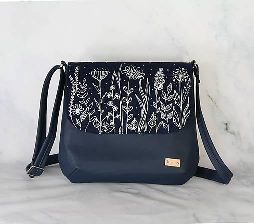 modrotlačová kabelka Ria XL modrá AM 1