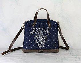 Kabelky - modrotlačová kabelka Nora hnedá AM 2 - 13717166_