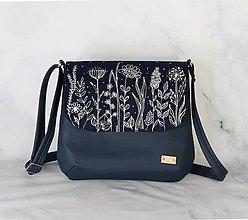 Kabelky - modrotlačová kabelka Ria XL modrá AM 1 - 13717188_