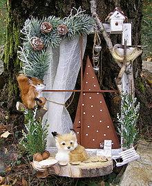 Dekorácie - vianočné okienko ... líštička - 13720915_