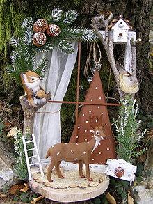Dekorácie - vianočné okienko ... jelenček - 13720946_