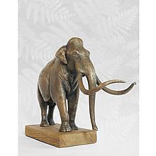 Sochy - Mamut - bronzová socha originál - limitovaná edícia - 13720099_