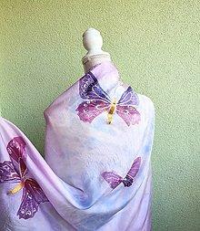 Šatky - Hodvábna šatka Violet - 13721432_