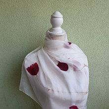 Šatky - Hodvábna šatka Tulips - 13721530_