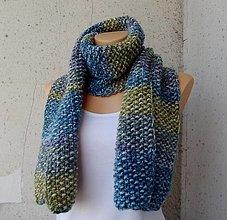 Šály - pletená šála Emily - 13720060_