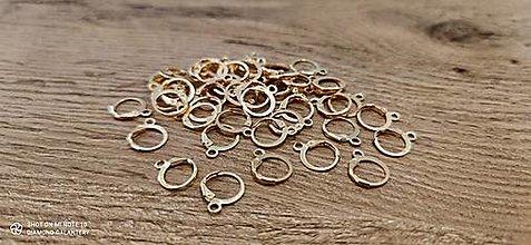 Komponenty - Základ na náušnice - 13 x 15 mm (Zlatá) - 13722175_