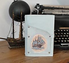Papiernictvo - kožený midori zápisník CONNOR - 13719806_