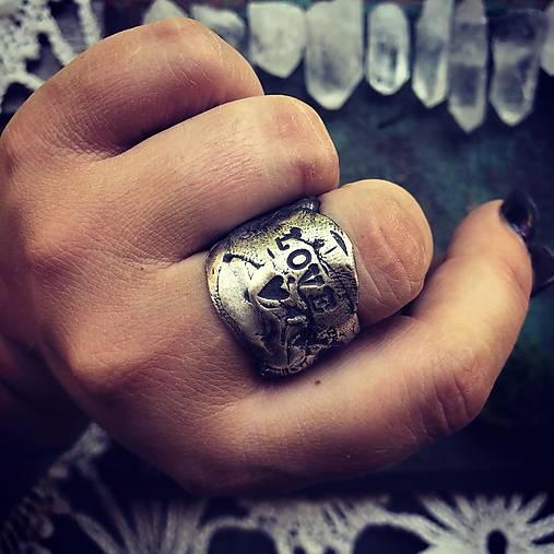 Strieborný prsteň - V srdci Ťa nosím