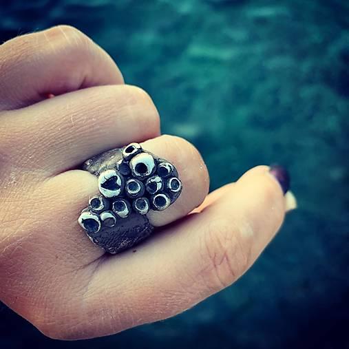Strieborný prsteň - Srdce morskej panny