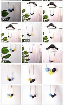 Náhrdelníky - Výrazný drevený náhrdelník MIRA - 13719606_