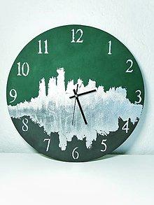 """Hodiny - Nástenné hodiny """"Smaragd"""" (vyrobené na objednávku) - 13720104_"""