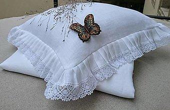 Úžitkový textil - Romantické posteľné obliečky 100% ľan - 13720965_