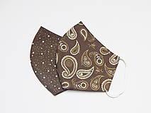 Rúška - Set dámskych rúšok - čokoláda (cca 11 cm, úzka tvár, tínedžeri) - 13719645_