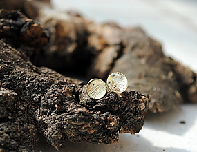 Náušnice - Náušnice Pale III. žlté - 13724136_