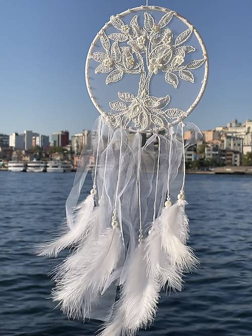 Lapač snov Strom života -biely