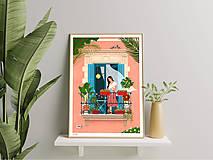 Grafika - Barcelona II. - umělecký tisk - 13723882_