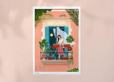 Grafika - Barcelona II. - umělecký tisk - 13723883_