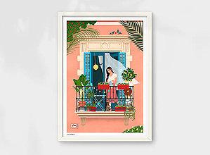 Grafika - Barcelona II. - umělecký tisk - 13723877_