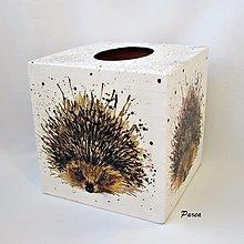 Krabičky - Krabica na papierové vreckovky- ježko - 13722911_