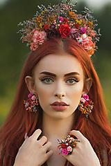 """Náušnice - Boho náušnice """"Frida"""" - jesenné ruže - 13724290_"""
