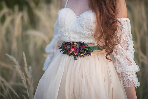 """Kvetinový folk opasok """"šťastná s tebou"""""""