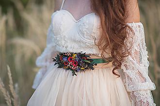 """Opasky - Kvetinový folk opasok """"šťastná s tebou"""" - 13722918_"""
