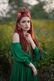 """Prstene - Kvetinový prstienok """"Frida"""" - jesenné ruže - 13724320_"""