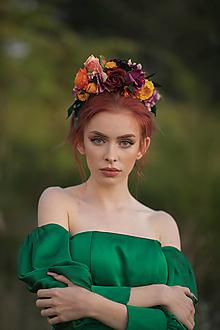 "Ozdoby do vlasov - Boho čelenka ""Frida"" - fialkovožltá - 13724495_"