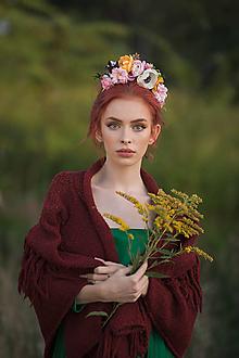 "Ozdoby do vlasov - Boho čelenka ""Frida"" - anemonka - 13724537_"