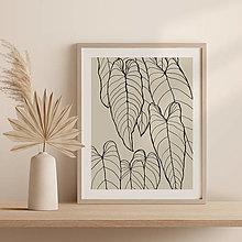 "Grafika - Obraz na stenu ""Listy"" - 13722991_"