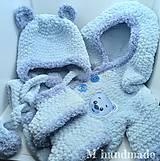 Detské súpravy - Modrý set na zimu pre chlapca - 13724336_