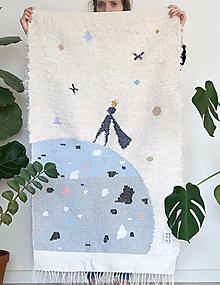 Úžitkový textil - Ručne tkaný koberec | malý princ  - 13723875_