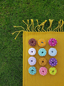 Hračky - Háčkovaný koláčik - donut - 13723910_