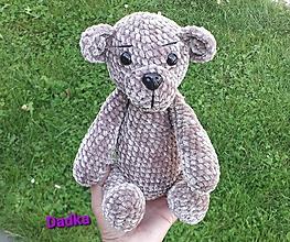 Hračky - Háčkovany medvedík - 13723676_