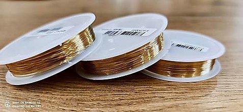Komponenty - Drôtik 0,3 mm  (Zlatá) - 13728875_