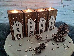 Svietidlá a sviečky - Adventné svietniky - 13727178_