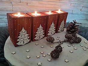 Svietidlá a sviečky - Adventné svietniky - 13727223_