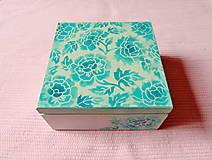 Krabičky - Drevená krabička s priečinkami - 13725990_