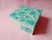 Krabičky - Drevená krabička s priečinkami - 13725996_