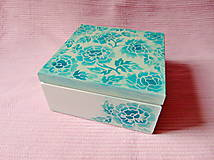 Krabičky - Drevená krabička s priečinkami - 13725997_