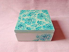 Krabičky - Drevená krabička s priečinkami - 13725994_