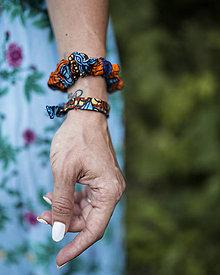 Iné doplnky - Šnúrky na ruku, alebo na nohu z kolekcie Afrika-Mix farieb - 13725619_