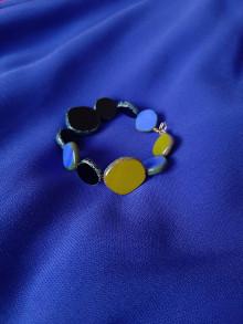 Náramky - Exkluzívny náramok Modrá - 13728931_