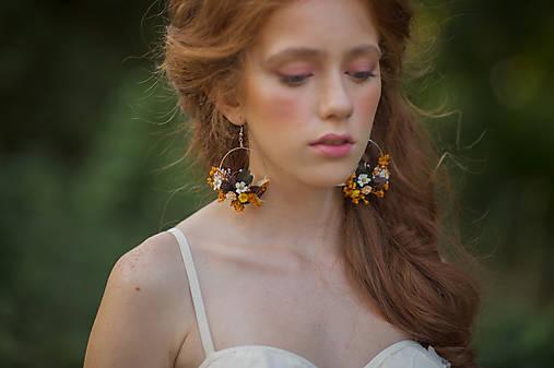 """Kvetinové kruhové náušnice """"čarovná jeseň"""""""