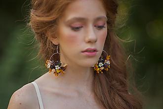 """Náušnice - Kvetinové kruhové náušnice """"čarovná jeseň"""" - 13726361_"""