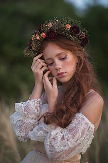 """Ozdoby do vlasov - Kvetinový venček """"blízko k vetru"""" - 13726467_"""